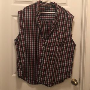 Puritan Shirts - Puritan plaid men's flannel cutoff summer shirt
